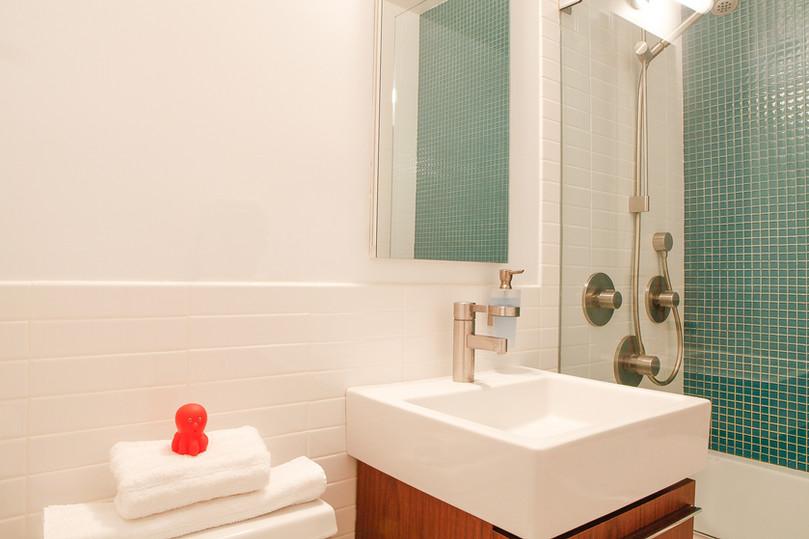 Modern, Colorful Kids Bathroom Renovation design - Dallas, TX