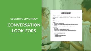 CC Conversation Look-Fors
