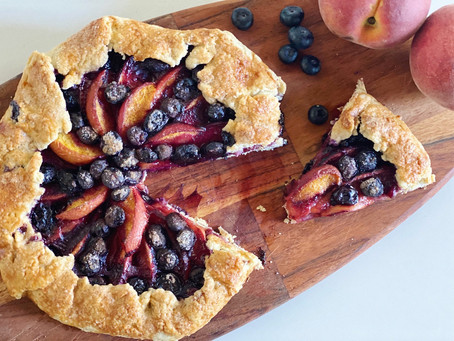 A Rustic Blueberry & Peach Crostata
