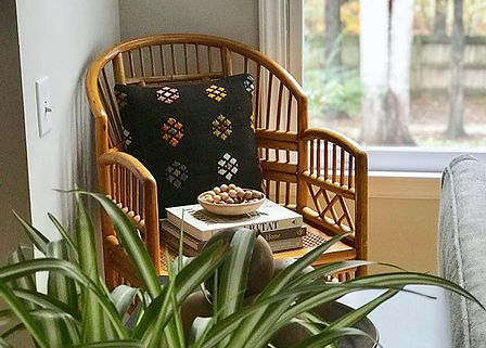 Rattan chair in _ashlyngoldberg's space_