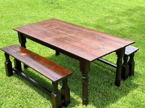 Custom Farm Table 100% Recleaimed