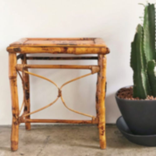 SOLD - Burnt Bamboo Table $30.10_16.25""