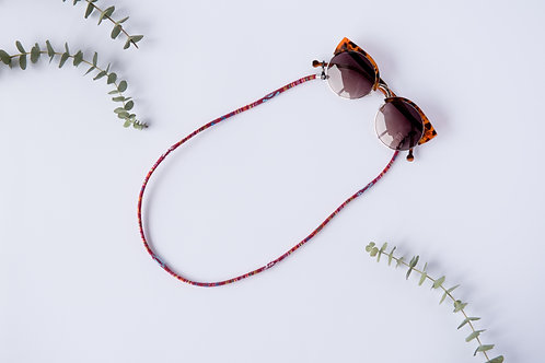 SUNGLASSES CORD ETHNIC BURGUNDY