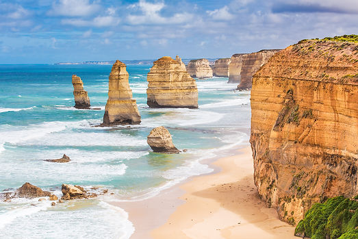 Twelve Apostles Rocks On  Great Ocean Ro