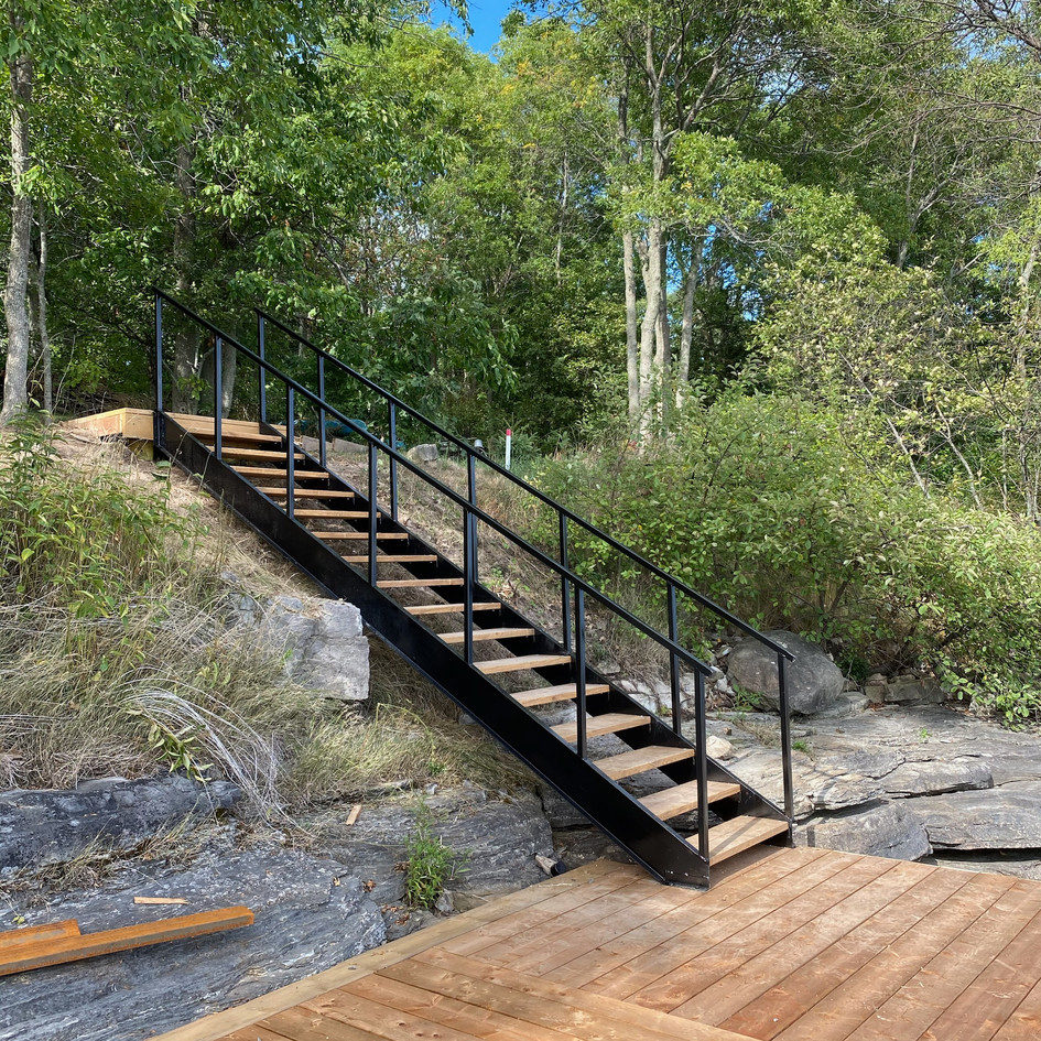 Shore deck, dock and stairs