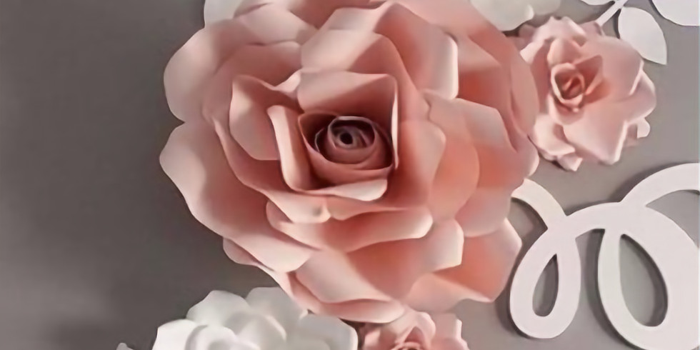3D PAPER ROSE WORKSHOP