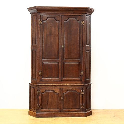 Georgain Floor Standing Oak Corner Cabinet