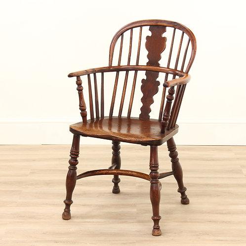 Georgian Yew & Elm Windsor Chair