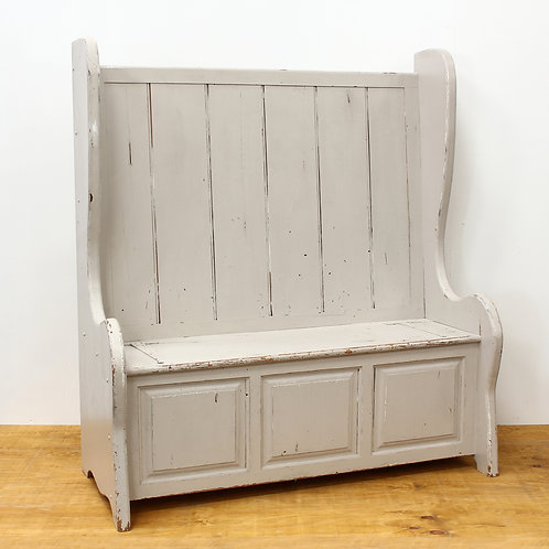 Victorian Painted Pine Settle
