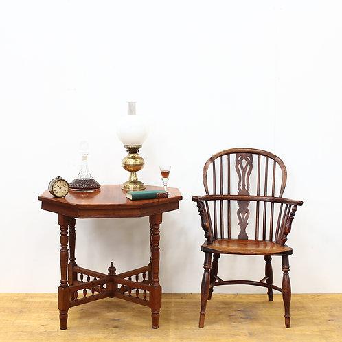 Edwardian Walnut Octagon Table