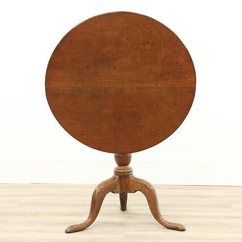 Georgian Oak Snap Top Pedestal Table