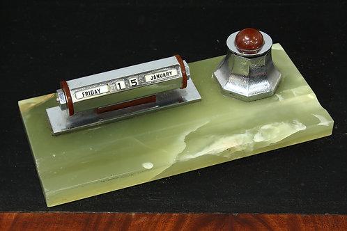 1930's Art Deco Ink Well Desk Tidy