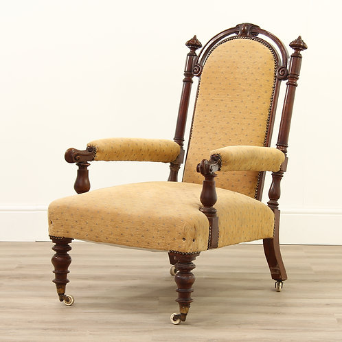 Victorian Mahognay Carved Armchair