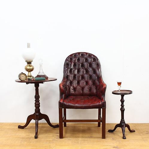 Gentleman's Ox Blood Chesterfield Leather Armchair