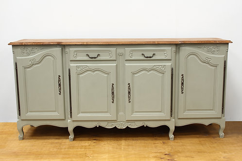 PAINTED OAK FRENCH SIDEBOARD