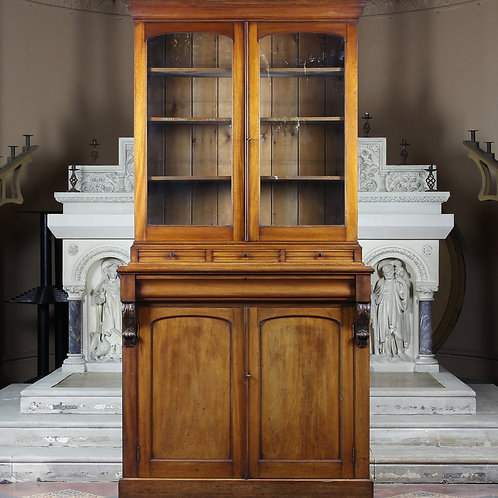 Victorian Light Mahogany Bookcase Cabinet