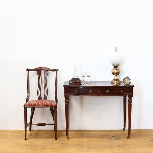 Mahogany Bow Fronted Console Table