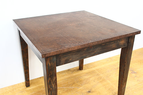 Copper Topped Painted Pine Table
