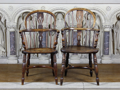 A Pair of Childrens Windsor Chairs