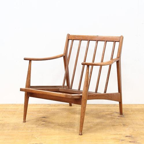 1960's Oak Mid-Century Easy Chair