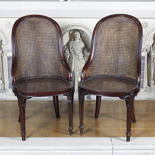 Pair Of French Bergere Chairs By Waring & Gillows (Paris)