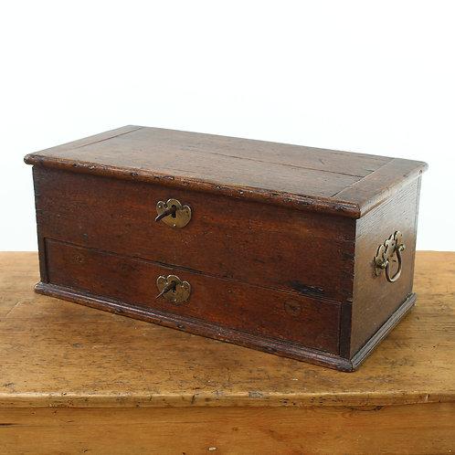 Georgian Oak Box with Drawer