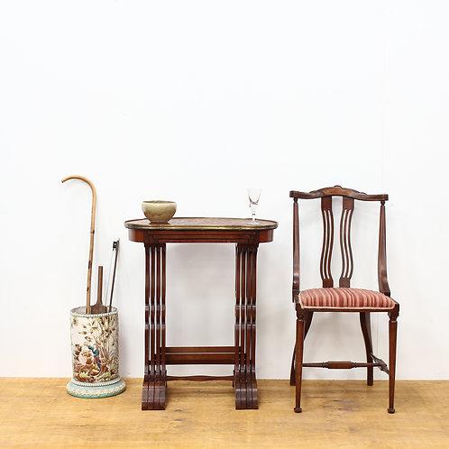 Edwardian Inlaid Kingwood Nest of Four Tables