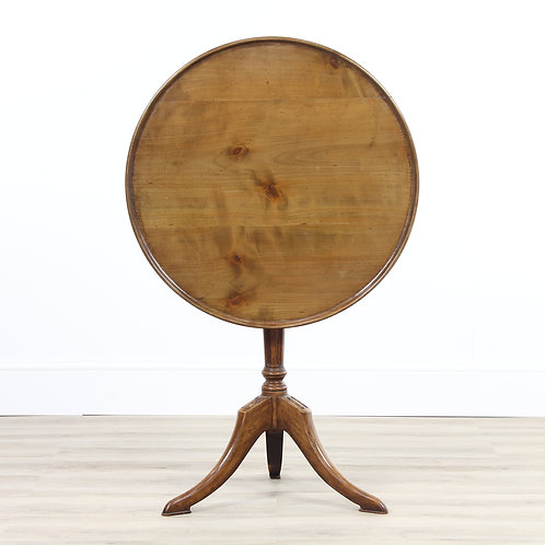 Edwardian Yew Wood Snap Top Table