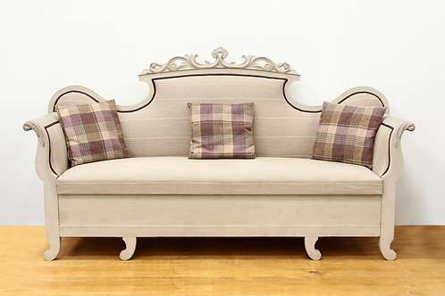 French Painted Sofa with Drawer