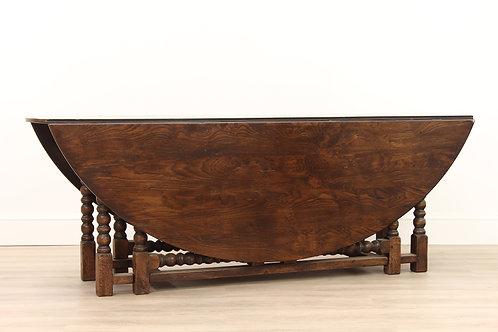 Georgian Style Oak Bobbin Leg Wake Table