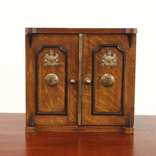 Oak & Mahogany Box bearing the Royal Coat of Arms of the United Kingdom