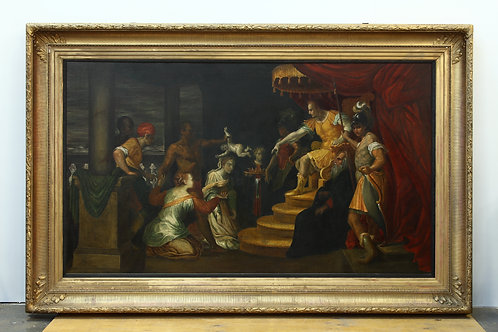 The Judgement of Solomon Oil on Canvas Painting