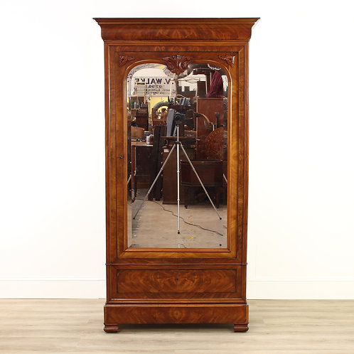 Victorian Walnut Mirrored Armoire