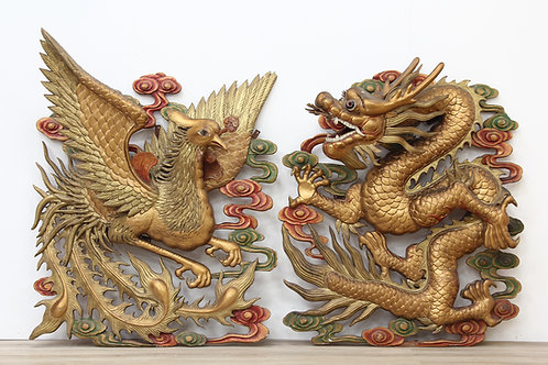 Chinese Carved Wooden Plaques