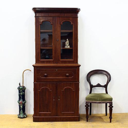 Victorian Mahogany Secretaire Bookcase