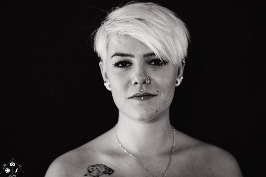 Schwarz Weiß Portrait