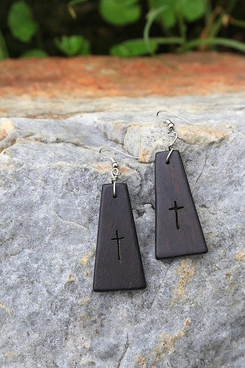 Blackwood Cross Earrings