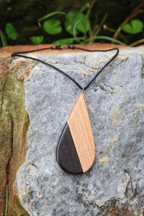 Teardrop Necklace, 2 tone