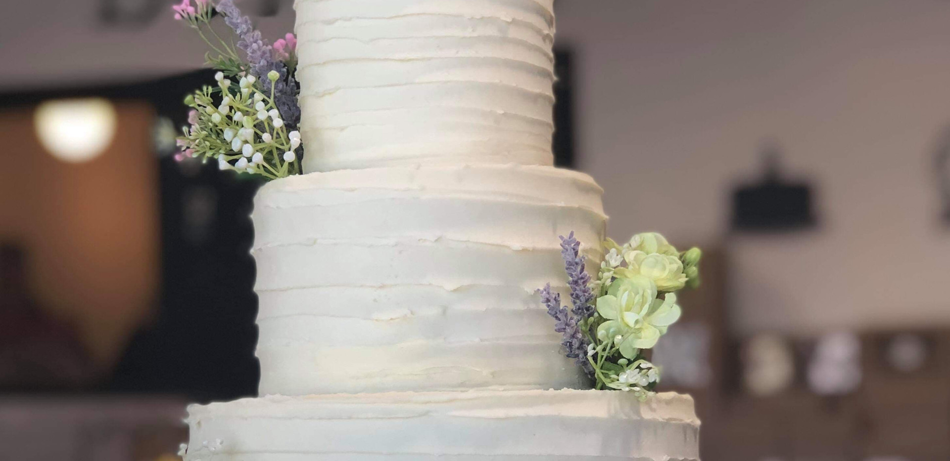 3tier spiral rustic with floral of your choice