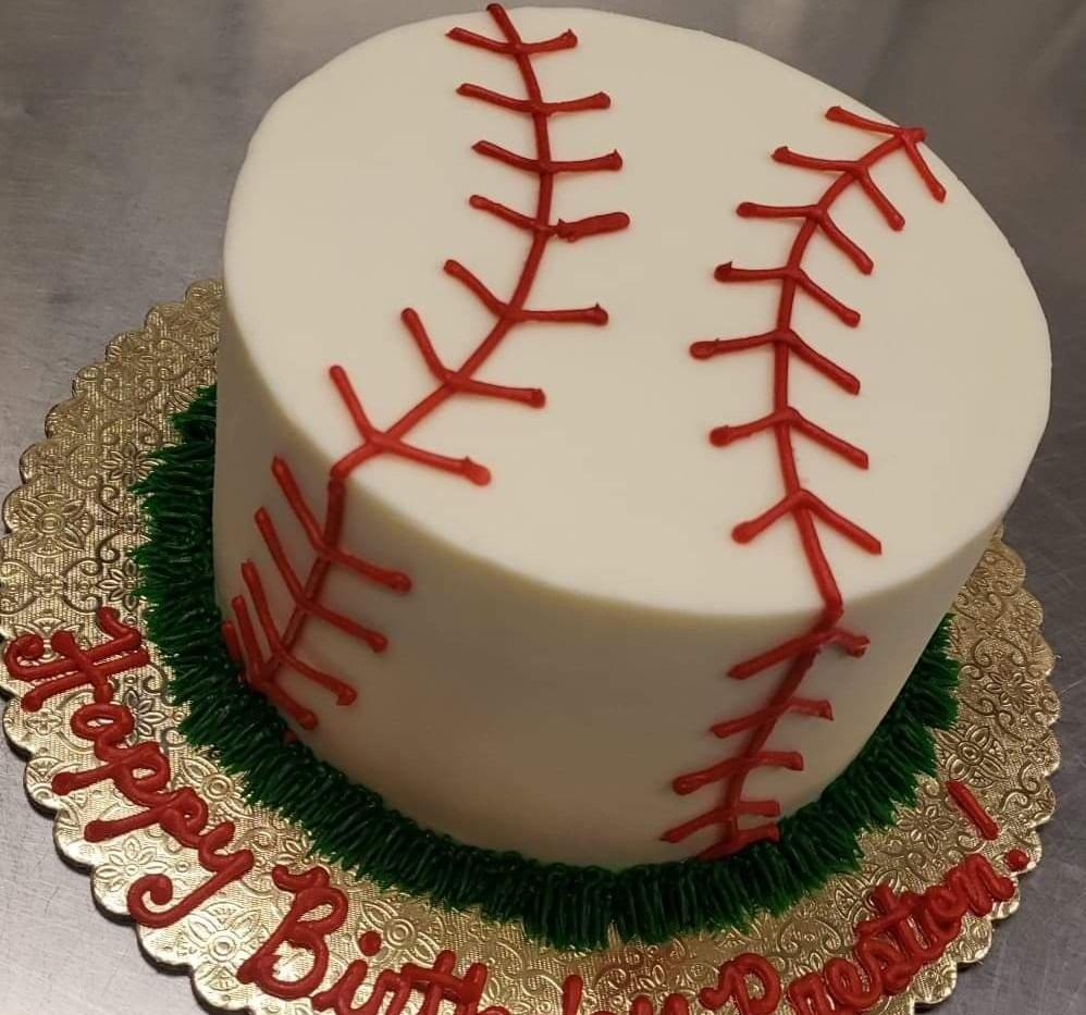 "6"" baseball cake"