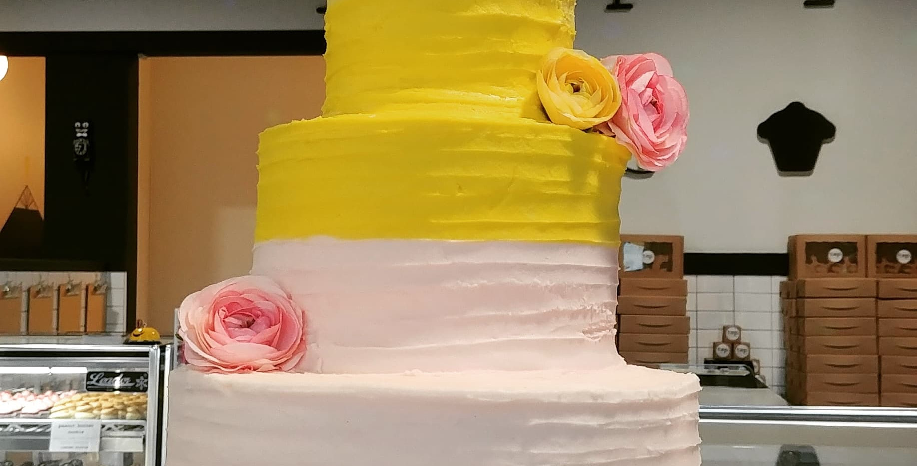 3tier spiral rustic ombre with floral