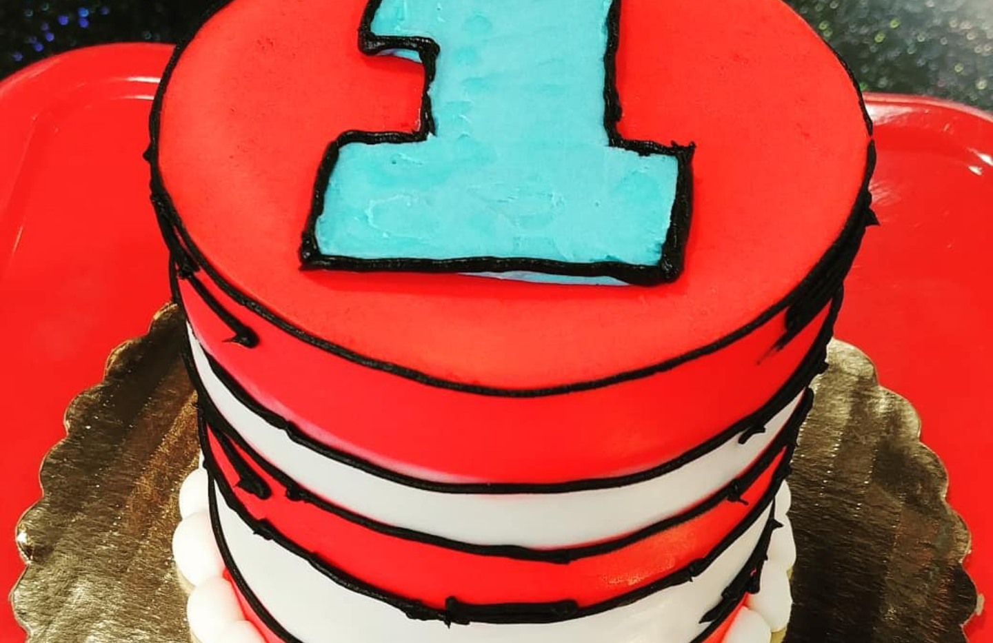 "4"" Dr. Suess inspired smash cake"