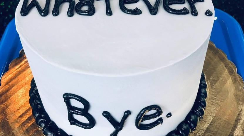 """6"""" Whatever. Bye."""