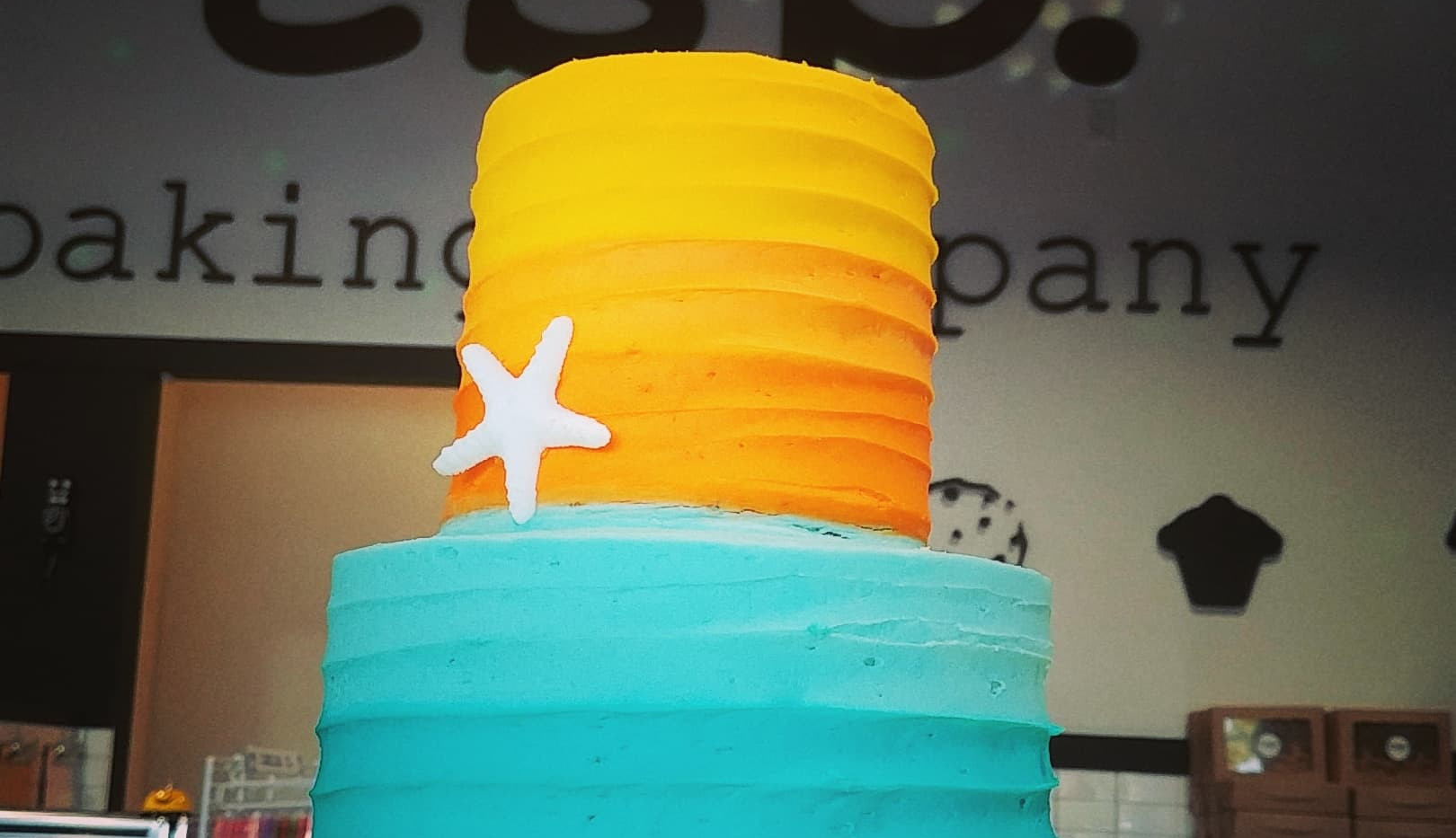 small 2tier blue to sunset orange