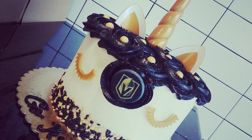 "6"" VGK unicorn cake"