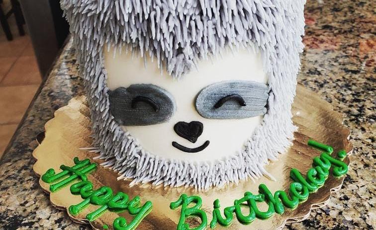 "4"" sloth cake"