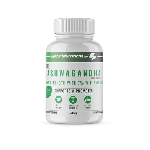 Ashwagandha-Double Strength(500 MG) 7% Withanolides  - 360 Capsules