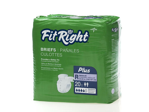 Fit Plus Briefs -  CASE (80 per case)