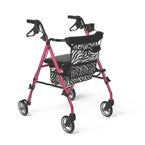 Posh Pink Zebra Rollator