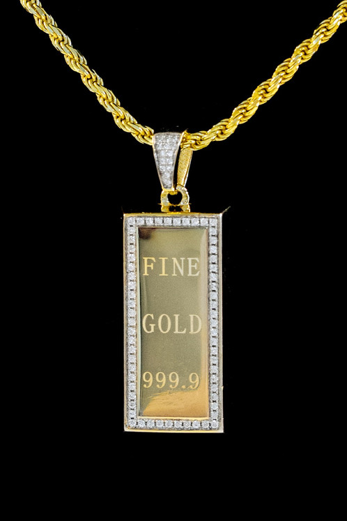Gold bar pendants creepingthymefo gold bar necklace streetwear jewelry cali co aloadofball Image collections